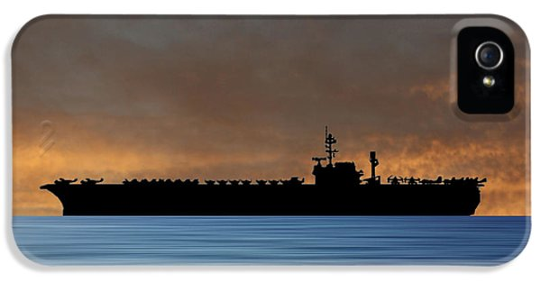 Hawk iPhone 5 Case - Uss Kitty Hawk 1955 V3 by Smart Aviation