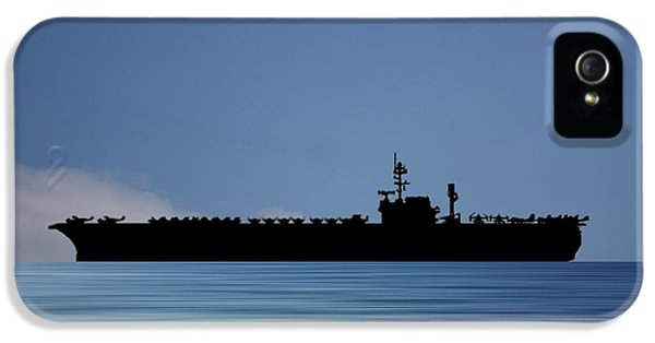Hawk iPhone 5 Case - Uss Kitty Hawk 1955 V4 by Smart Aviation