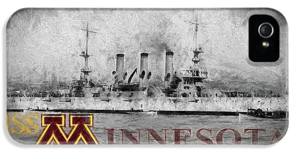 Uss Minnesota IPhone 5 Case by JC Findley