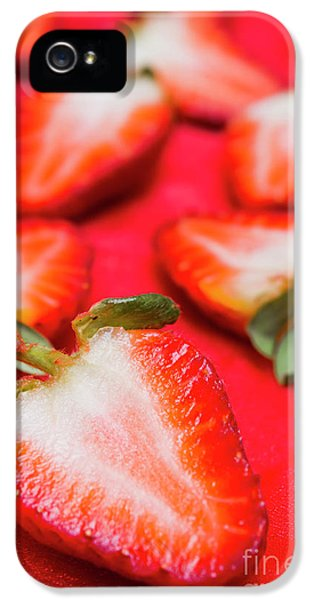 Various Sliced Strawberries Close Up IPhone 5 Case by Jorgo Photography - Wall Art Gallery