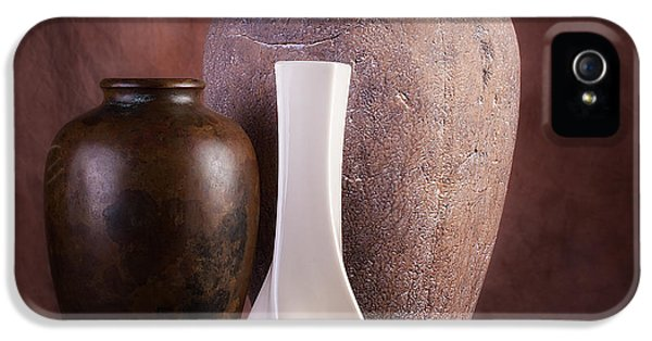 Vases With A Twist IPhone 5 Case by Tom Mc Nemar
