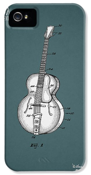 Guitar iPhone 5 Case - Vega Guitar Patent 1949 by Mark Rogan
