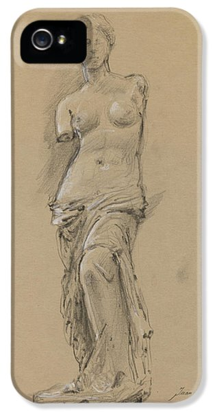 Louvre iPhone 5 Case - Venus De Milo by Juan Bosco