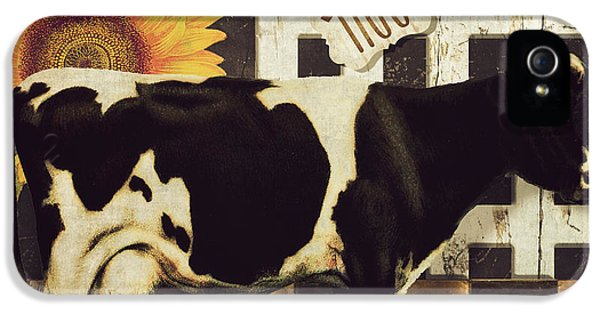 Cow iPhone 5 Case - Vermont Farms Cow by Mindy Sommers