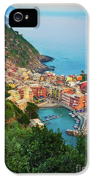 Vernazza From Above IPhone 5 Case by Inge Johnsson