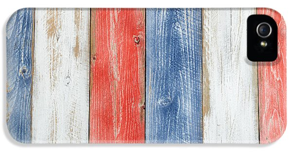 Vertical Stressed Boards Painted In Usa National Colors IPhone 5 Case