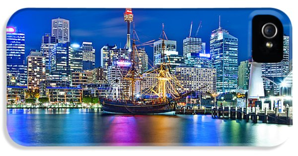 Vibrant Darling Harbour IPhone 5 Case by Az Jackson