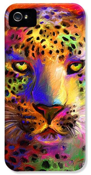 Vibrant Leopard Painting IPhone 5 Case