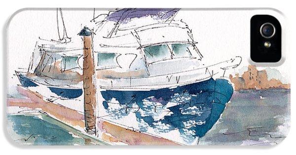 Vic Harbor Boat IPhone 5 Case by Pat Katz