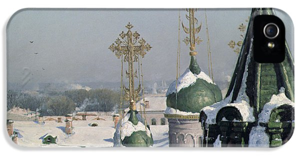 View From A Window Of The Moscow School Of Painting IPhone 5 / 5s Case by Sergei Ivanovich Svetoslavsky