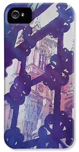View From The Cloister IPhone 5 Case by Jenny Armitage