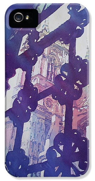 Westminster Abbey iPhone 5 Case - View From The Cloister by Jenny Armitage