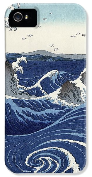View Of The Naruto Whirlpools At Awa IPhone 5 Case by Hiroshige