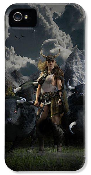 Viking Gefjon IPhone 5 Case by Andy Renard