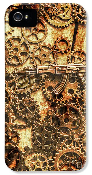 Vintage Ak-47 Artwork IPhone 5 Case by Jorgo Photography - Wall Art Gallery