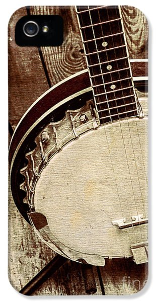 Vintage Banjo Barn Dance IPhone 5 Case by Jorgo Photography - Wall Art Gallery