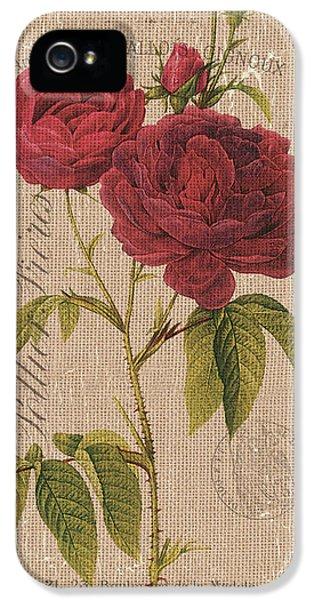 Vintage Burlap Floral 3 IPhone 5 Case
