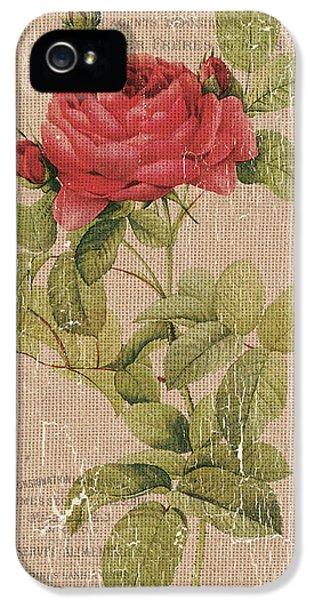 Vintage Burlap Floral IPhone 5 Case