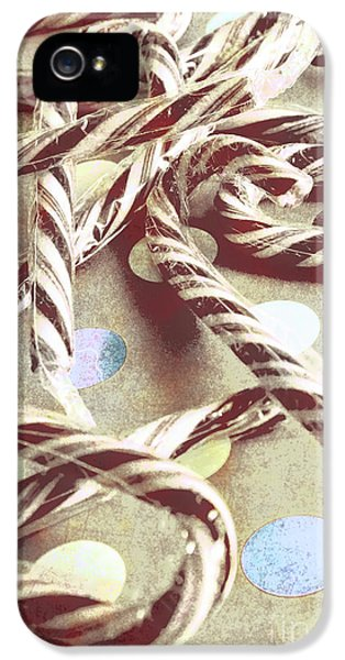 Vintage Candy Canes IPhone 5 Case by Jorgo Photography - Wall Art Gallery