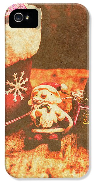 Vintage Christmas Art IPhone 5 Case by Jorgo Photography - Wall Art Gallery