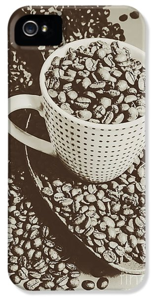 Vintage Coffee Art. Stimulant IPhone 5 Case