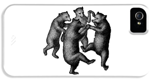 Vintage Dancing Bears IPhone 5 Case by Edward Fielding
