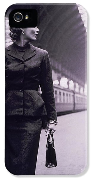 Vintage Fashion Elegant Lady IPhone 5 Case by Mindy Sommers
