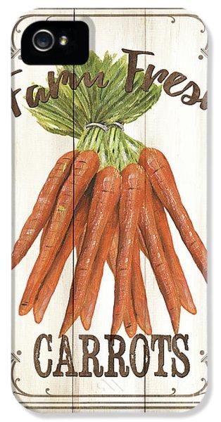 Carrot iPhone 5 Case - Vintage Fresh Vegetables 3 by Debbie DeWitt