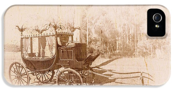 Vintage Funeral Hearse IPhone 5 Case by Jorgo Photography - Wall Art Gallery