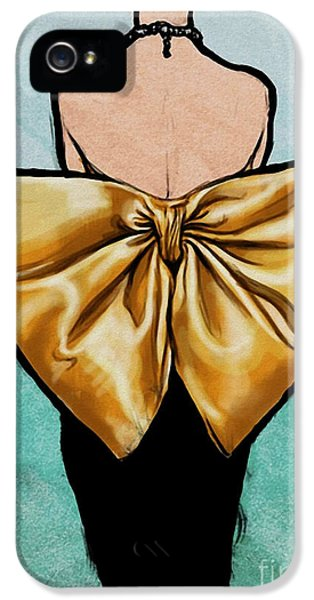 Vintage Glamour Fashion Dress IPhone 5 Case by Mindy Sommers