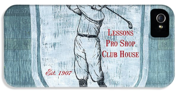 Vintage Golf Blue 1 IPhone 5 Case