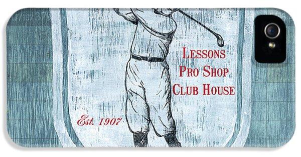 Vintage Golf Blue 1 IPhone 5 Case by Debbie DeWitt