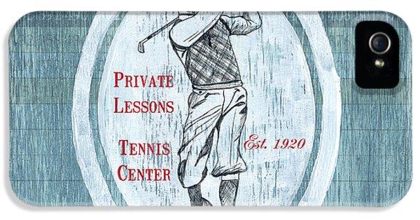 Vintage Golf Blue 2 IPhone 5 Case by Debbie DeWitt
