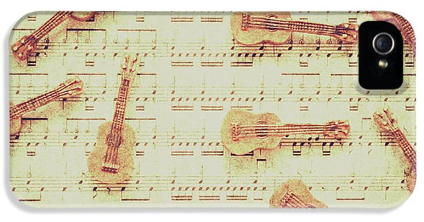 Vintage Guitar Music IPhone 5 Case by Jorgo Photography - Wall Art Gallery