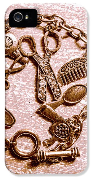Vintage Hairdressing Charm IPhone 5 Case
