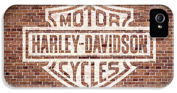 Vintage Harley Davidson Logo Painted On Old Brick Wall IPhone 5 Case