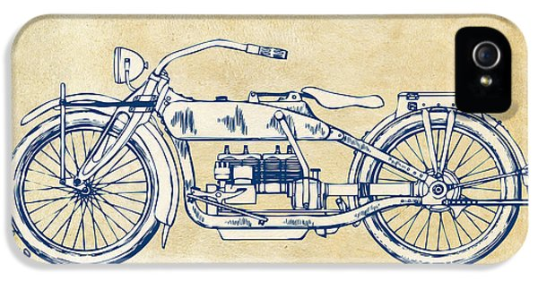 Vintage Harley-davidson Motorcycle 1919 Patent Artwork IPhone 5 / 5s Case by Nikki Smith