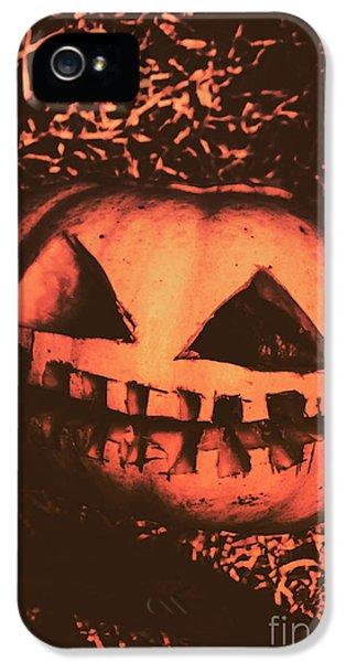 Vintage Horror Pumpkin Head IPhone 5 Case by Jorgo Photography - Wall Art Gallery
