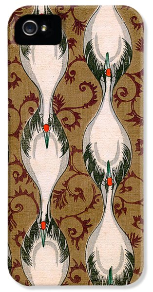 Vintage Japanese Illustration Of Cranes Flying IPhone 5 Case by Japanese School