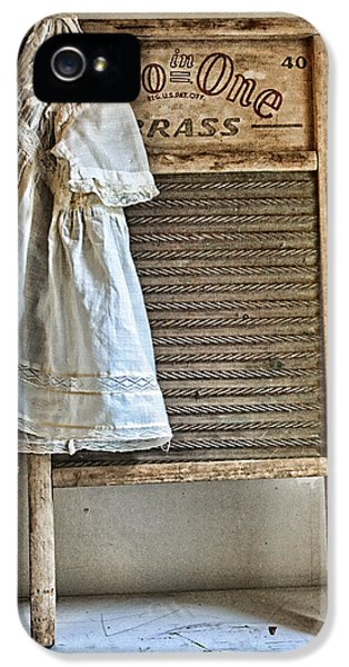 Washed iPhone 5 Cases - Vintage Laundry II iPhone 5 Case by Marcie  Adams