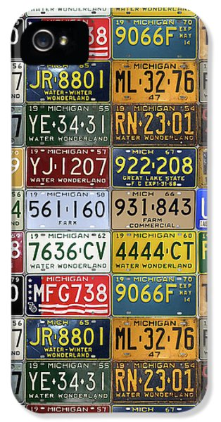 Vintage License Plates From Michigan's Rich Automotive Past IPhone 5 Case by Design Turnpike