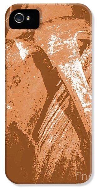 Vintage Miners Hammer Artwork IPhone 5 Case