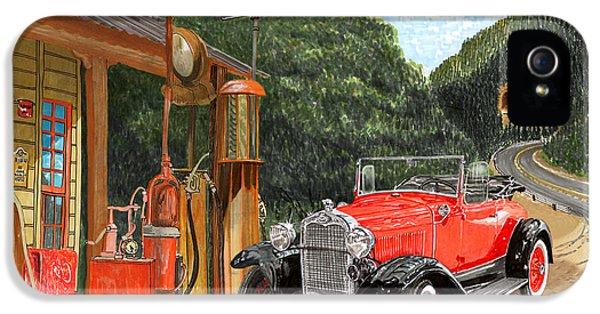 Vintage Mobilgas Station  IPhone 5 Case by Jack Pumphrey