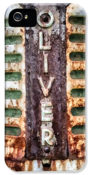 Etna iPhone 5 Case - Vintage Oliver Tractor Grill by Edward Fielding