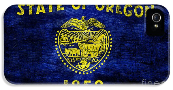 Vintage Oregon Flag IPhone 5 Case by Jon Neidert