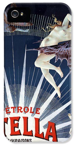 Vintage Petrole Stella Poster IPhone 5 Case by Henri Boulanger