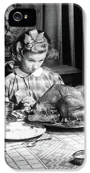 Vintage Photo Depicting Thanksgiving Dinner IPhone 5 Case