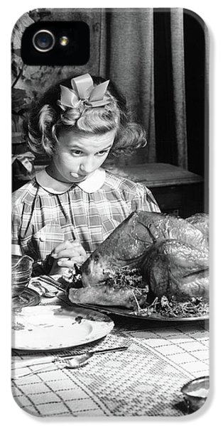 Vintage Photo Depicting Thanksgiving Dinner IPhone 5 / 5s Case by American School
