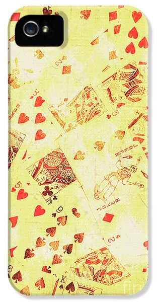 Vintage Poker Background IPhone 5 Case by Jorgo Photography - Wall Art Gallery