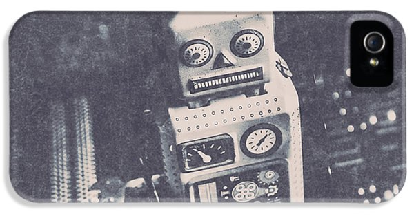 Vintage Robot Toy IPhone 5 Case by Jorgo Photography - Wall Art Gallery